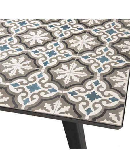 Table plateau carreaux de ciment