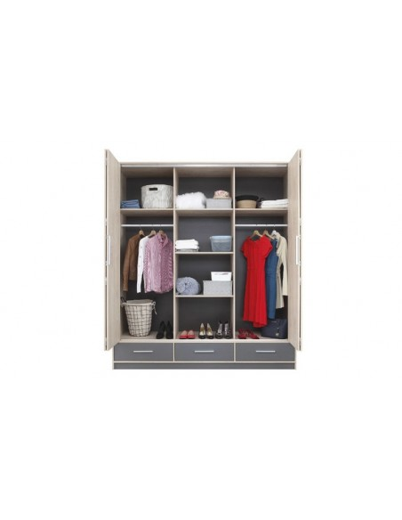 armoire dressing anthracite