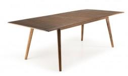 Table extensible en acacia