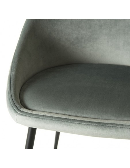 chaise velours jade