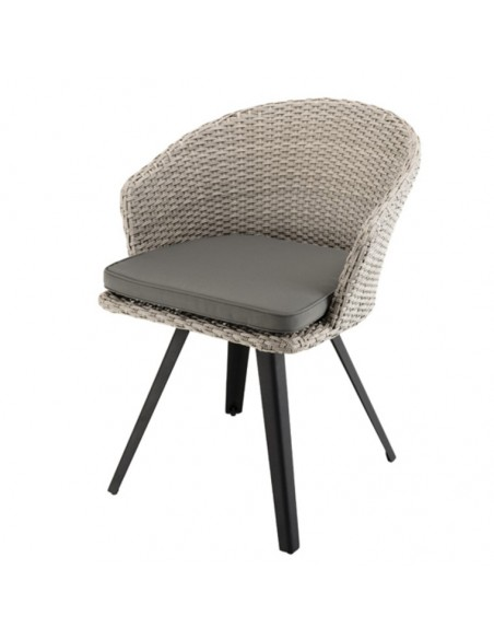 Fauteuil rotin synthétique gris