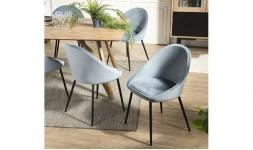 chaise velours bleu