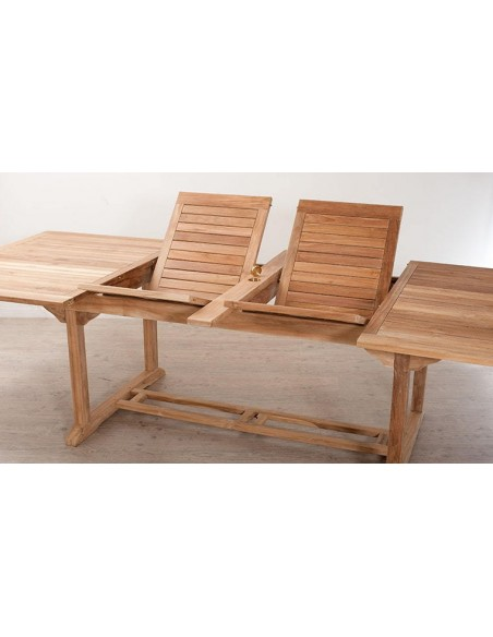 Ensemble jardin table + 6 fauteuils en teck