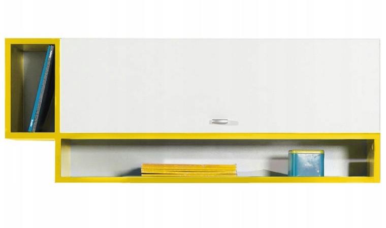 Étagère murale jaune et blanche