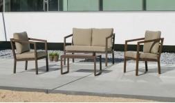 Salon de jardin bronze marron