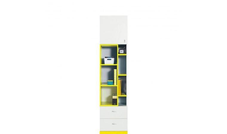 Bibliothèque moderne jaune