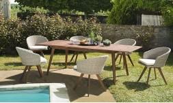 Salon de jardin extensible acacia