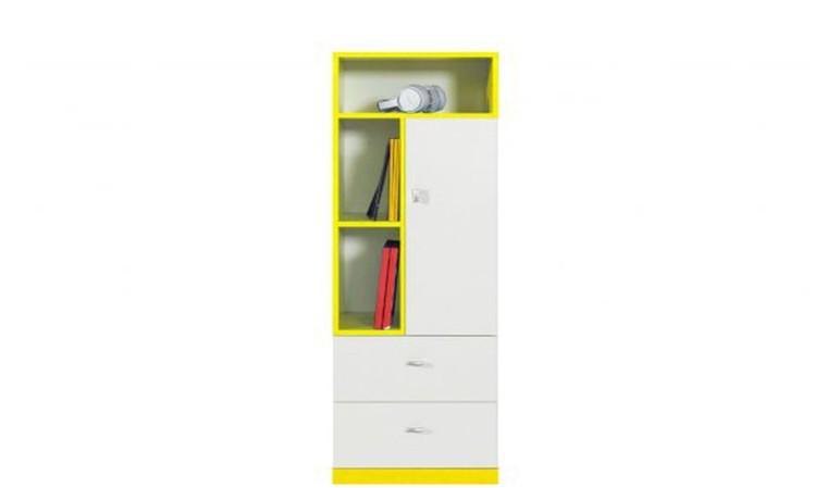 Bibliothèque basse jaune blanc