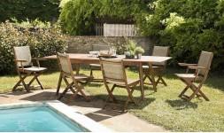 Salon jardin extensible et pliant
