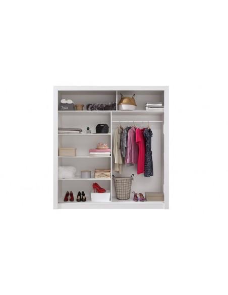armoire blanc avec miroir