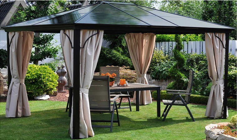pergola de qualit toit rigide en polycarbonate qualit allemande. Black Bedroom Furniture Sets. Home Design Ideas