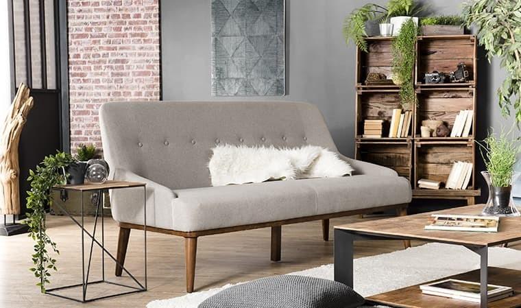 Canapé bois foncé