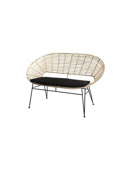 Canapé design en rotin