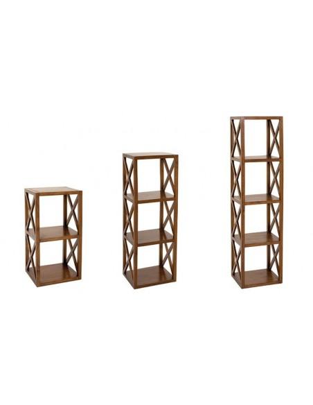 étagère croisillons en bois