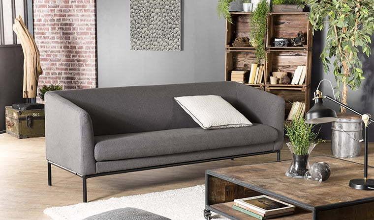 Canapé design gris foncé