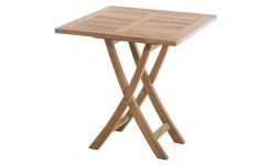 Table extérieur carrée pliante en teck