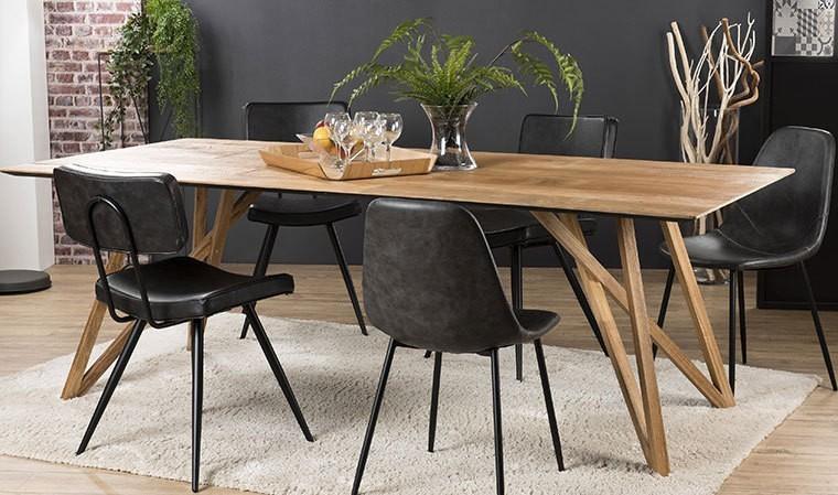 Table à manger haut de gamme en teck recyclé 220 cm - Eastwood