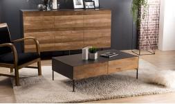 table basse plateau métal