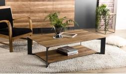 Table basse sous plateau en teck