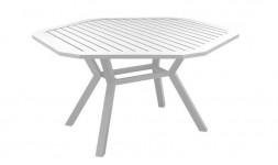 Table de jardin blanche hexagonale