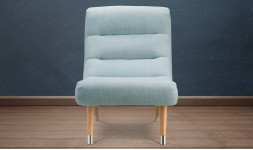 fauteuil de salon bleu
