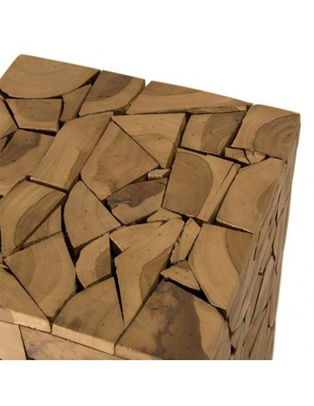 Table carree mozaic teck