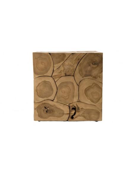Cube décoratif en teck