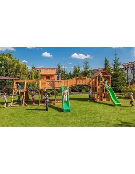 Grande aire de jeux de jardin enfant