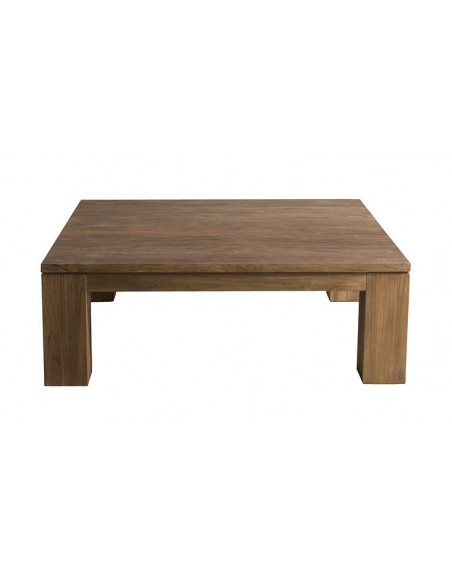 Table basse carrée en teck recyclé