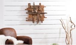 Décoration murale rustique en bois