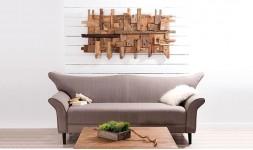 Tableau mural design en bois