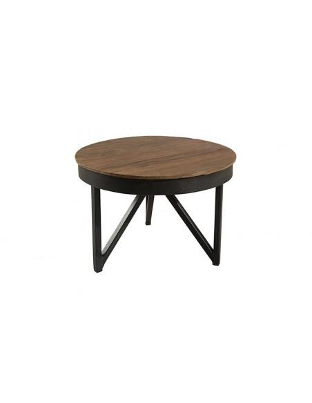Table d'appoint ronde en teck