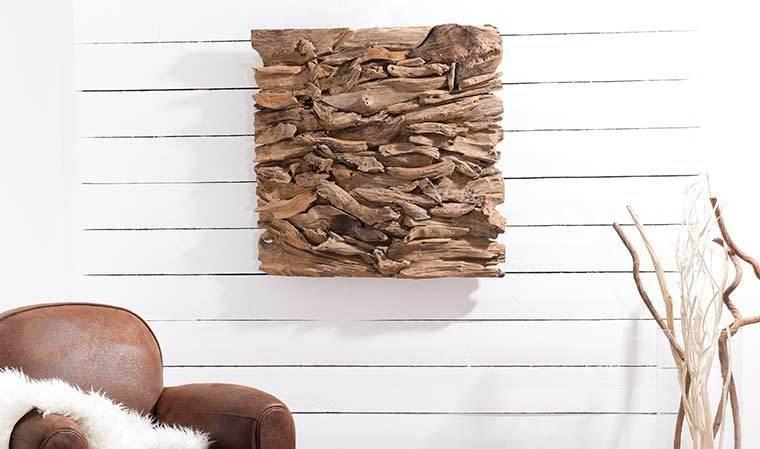 Déco carrée design en bois
