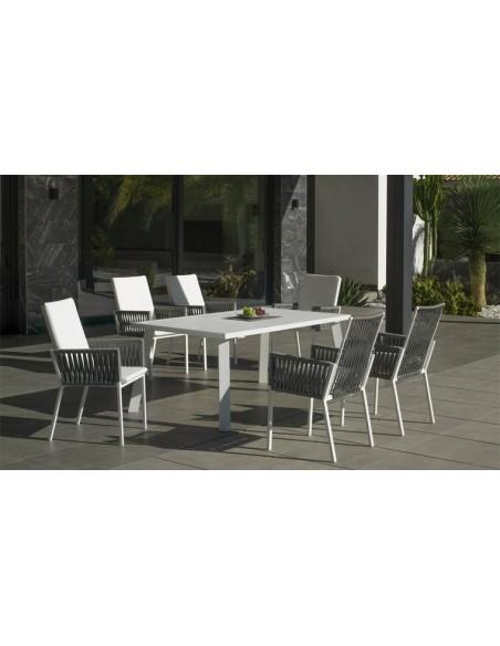 Ensemble repas jardin 6 fauteuils