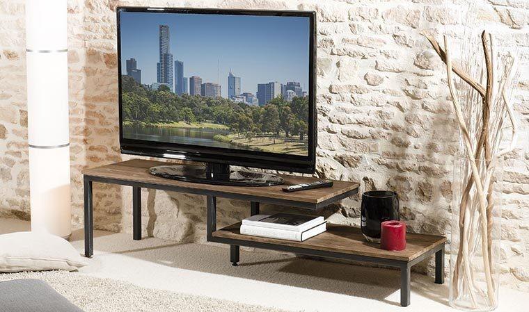 Meuble tv design en teck