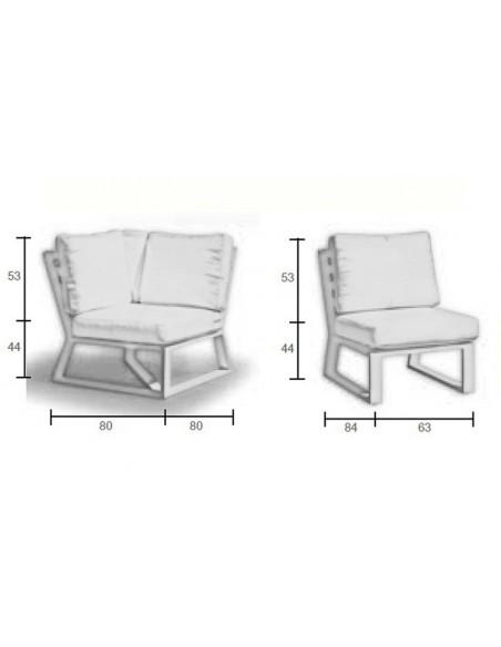 Salon de jardin blanc design