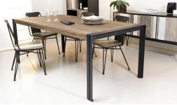 Table industrielle en teck