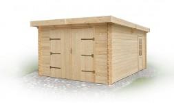Garage de jardin en bois massif