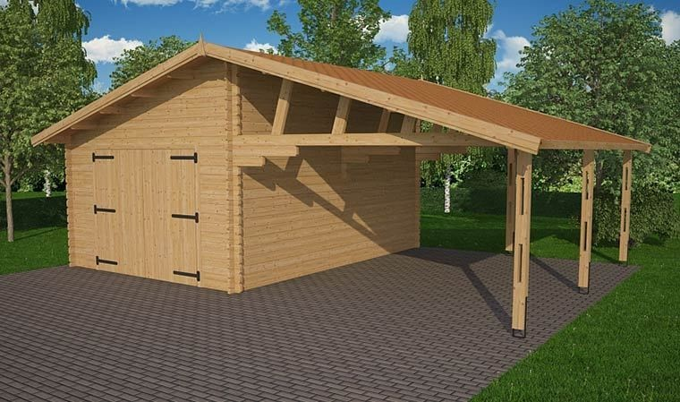 carport et garage en bois de sapin robuste et lgant. Black Bedroom Furniture Sets. Home Design Ideas