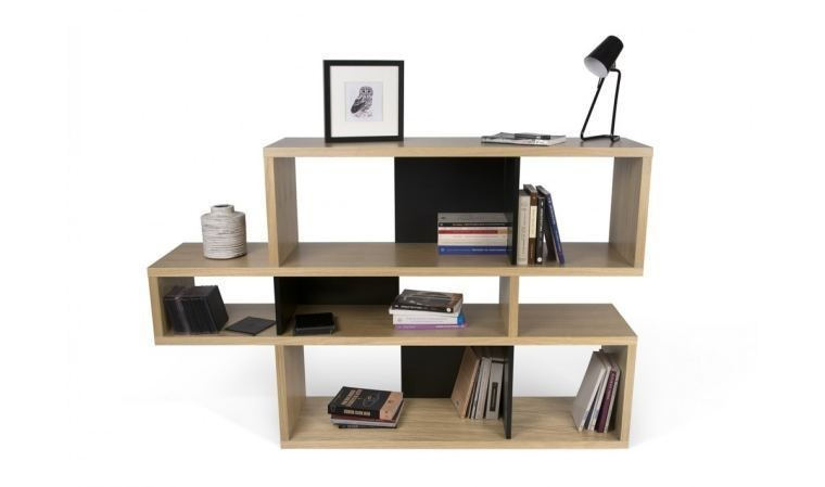 bibliotheque design london basse chene haut de gamme. Black Bedroom Furniture Sets. Home Design Ideas