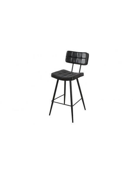 Chaise de bar noire design