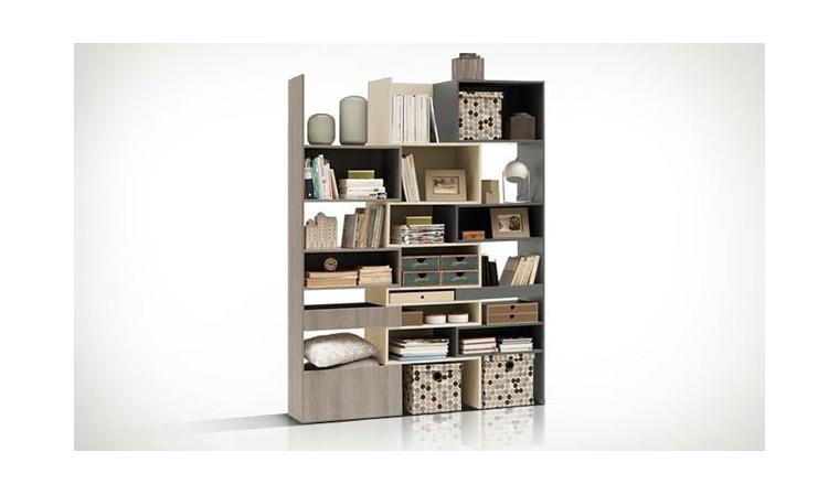biblioth que modulable design en bois lori vox. Black Bedroom Furniture Sets. Home Design Ideas