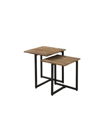 Tables gigognes carrées en teck