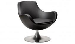 fauteuil rond noir