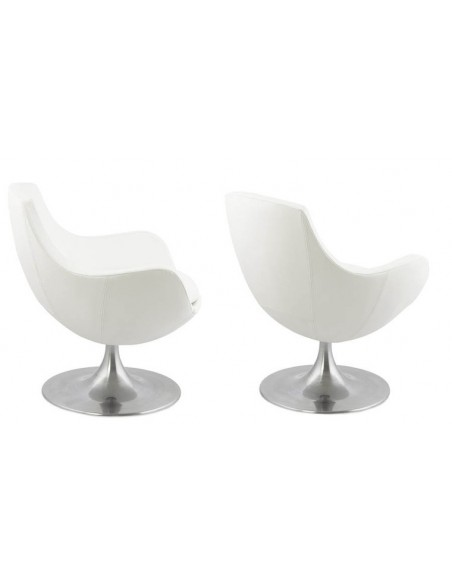 Fauteuil rond blanc