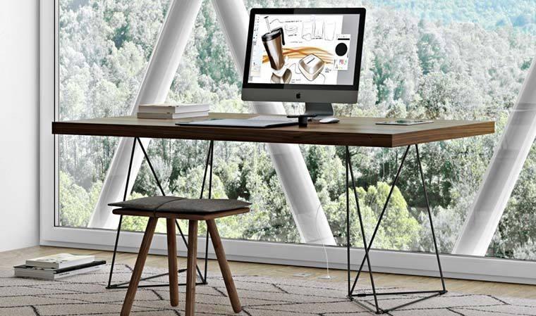 Bureau design en métal noir multi
