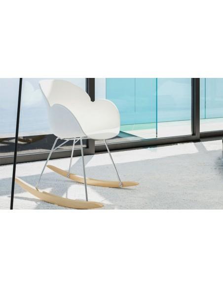 fauteuil bascule blanc