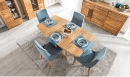 Table extensible chêne brossé miel