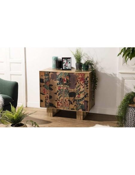 Petit meuble motifs à fleurs