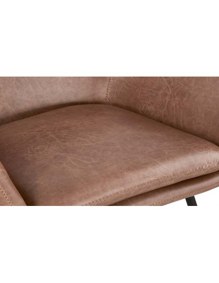 Fauteuil salon vintage marron